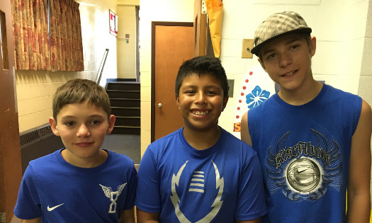 picture of three youth group members
